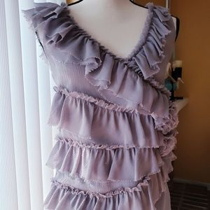 Deletta lavender sleeveless top